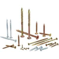 China Heat Treatment Yellow White Zinc Chipboard Screws Partical Board Wood Screws For MDF on sale