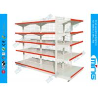 China Wire Mesh Two Sided Supermarket Storage Display Shelving on sale