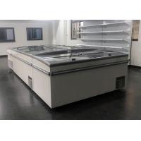 China Frost Free Commercial Chest Freezer Sliding Door , Glass Top Island Freezer on sale