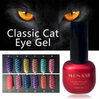 Best UV Cat Eye 3D Gel Polish 8ml Golden Line Magnetic 24 Colors Nail Polish wholesale