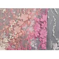 Buy cheap Colourful Lace Material For Dressmaking / Embroidered Sequin Fabric SGS Approval from wholesalers