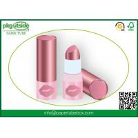 Cosmetics Round Paper Lipstick Tubes Canister 100% Eco Kraft For Lip Balm