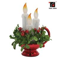 China Red Battery Operated Candle Light ,  Decorative Led Battery Operated Candles on sale
