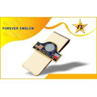 China square Shapes soft enamel logo Metal Money Clips with Delicate Logos on sale