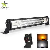 Quality 12V 3 Row warning  4X4 Off road led light bar Flashing 24 Volt 22 Inch for  Car network for sale