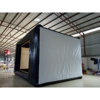 China 0.9mm PVC Tarpaulin Multifunction Office Projection Movie Screen Black / White on sale