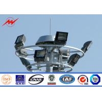 Buy cheap Hexagonal / Octagonal 25m 30m High Mast Light Poles With Aotumatic Hoisting System from wholesalers
