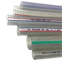 """Quality pvc steel wire suction hose for machinery/ 1 1/2"""" pvc steel wire suction hose/steel wire braided hose for industrial pum for sale"""