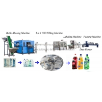 Quality Soda Gas Water Filling And Capping Machine,Carbonated Drink Bottling Line for sale
