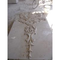 Quality Beige marble carved panel by hand for sale
