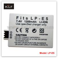 Quality Camera battery LP-E5 for Canon for sale
