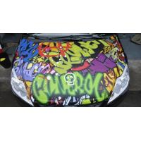 ZC237 Bubble Free Digital Printing Doodle Film / Graffiti Sticker Bomb for Car Wrapping