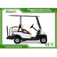 Quality CE Approved Used Club Car Golf Carts 4 Seater White Color Lead - Acid Batteries for sale