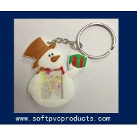 Quality Snowman Custom Beautiful Soft PVC Key Chain Photo Frames for Promotion Christmas Gifts for sale