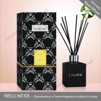 Black Square Home Reed Diffuser No Flame Fresh Smelling For Room Fragrance