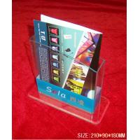 Quality Hotel / Restaurant Transparent Acrylic Literature Display Stands With 0.8-12mm Thickness for sale