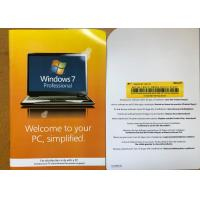 Quality Full Version Windows 7 Professional Retail Box 100% Original For 1 PC for sale