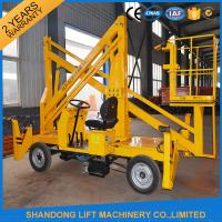 Quality Automatic 4 Wheels Articulated Vehicle Mounted Boom Lift for 8m - 14m Aerial Work for sale