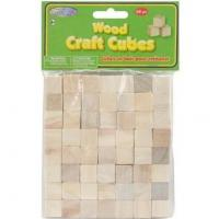 China wood craft cubes Craftwood 5/8 Inch Natural Wooden Cubes 56pcs on sale