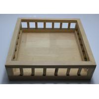 Quality Custom Wood Serving Tray With Handle , Pine Wood Personalized Wooden Beer Tray for sale