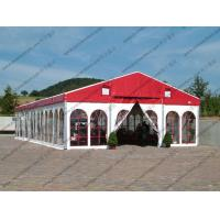 Colorful Waterproof Alumunium PVC Tent with Church Windows or Plain White Sidewalls for Ceremony / Party / Conference