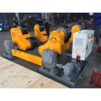 Quality 40 Ton Turning Capacity Self Aligned Welding Rotator PU Rollers Inverter Speed for sale