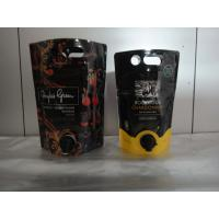 Quality Laminated Material Printed Stand Up Pouch With Spout / Juice Or Wine Bag In Box for sale