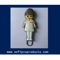 Quality Non-toxic Cutom Logo Girl Picture 3D PVC Head Paper Clip For Teacher or Students for sale