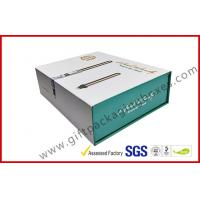 China CMYK customized paper box with golden foil magnet electronics packaging box with plastic tray on sale