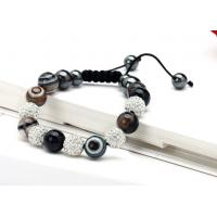 Buy cheap Onyx Balls with Clear Fimo Balls Shamballa Bead Bracelets Jewellery Wholesale NP10058-001 from wholesalers