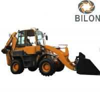 Quality Hydraulic Pilot Joystick  Backhoe Loader With 0.2M3 Excavating Bucket for sale