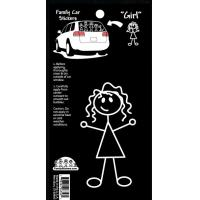 Quality Car Family Sticker--Girl for sale
