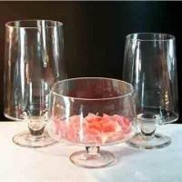 Best Clear Glass Candle Holder and Bowl with Stem wholesale