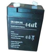 Quality UPS Rechargeable 6V 4.5AH Lead Acid Storage Battery for sale