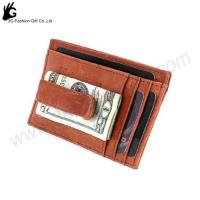 China Europe best-seller money clip wallet, genuine leather money clip wallet oem factory on sale