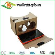Buy cheap google cardboard vr virtual reality glasses 3d vr headset with custom brand from wholesalers