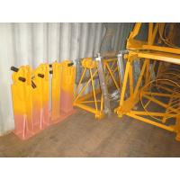 Quality Q345 Steel Angle Fixing Brackets Tower Crane Spare Parts Yellow Color Resuable for sale