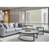 China Hotel Living Room Furniture White Marble Top Stainless Steel Coffee Table on sale