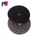 Quality 4 Inch / 5 Inch Wet Diamond Polishing Pads , Spiral Velcro Polishing Pads for sale