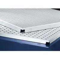 Quality Clip In  Aluminum Metal Ceiling 600x600MM , Perforated Aluminum Ceiling Panels for sale