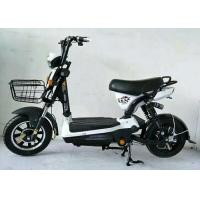 Quality Black Brushless Electric Scooter , Battery Powered Moped With Front Rear Drum for sale