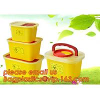 Quality BIOHAZARD WASTE CONTAINERS, PLASTIC STORAGE BOX, MEDICAL TOOL BOX, SHARP CONTAINER, SAFETY BOX, Disposable Hospital Bioh for sale