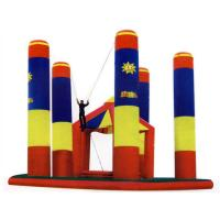 China Inflatable Amusement Park Bungee Trampoline For Outdoor Games on sale