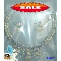 Quality Fashion Crystal Casting Costume Jewelry Beaded Pearl Necklace for Party 20g OEM for sale