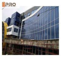 Quality Blue Color Aluminium Glass Curtain Wall For Building Exterior Wall Decoration for sale