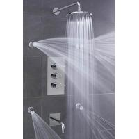 Buy cheap Concealed 3 Way Thermostatic Shower Valve With High / Low Water Pressure Shower Heads from wholesalers