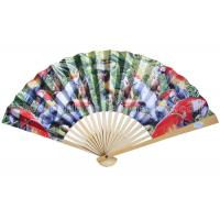 Best Transfer Printed Pattern Parrot Paper Folding Fans for Souvenir and Promotion wholesale