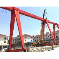 Quality 20Ton 30Ton Single Beam Gantry Crane With CD MD Electric hoist for sale