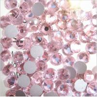 China SS6 lt rose flatback loose rhinestone glass crystal stone for crafts/nail art on sale
