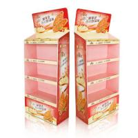 Cheap Holding 35kg corrugated cardboard shelf display For Stationery / Supermarket for sale